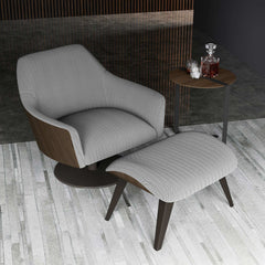 Modloft Henry Lounge Chair and Ottoman