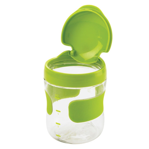 Oxo Tot - Large Flip-Top Snack Cup-green