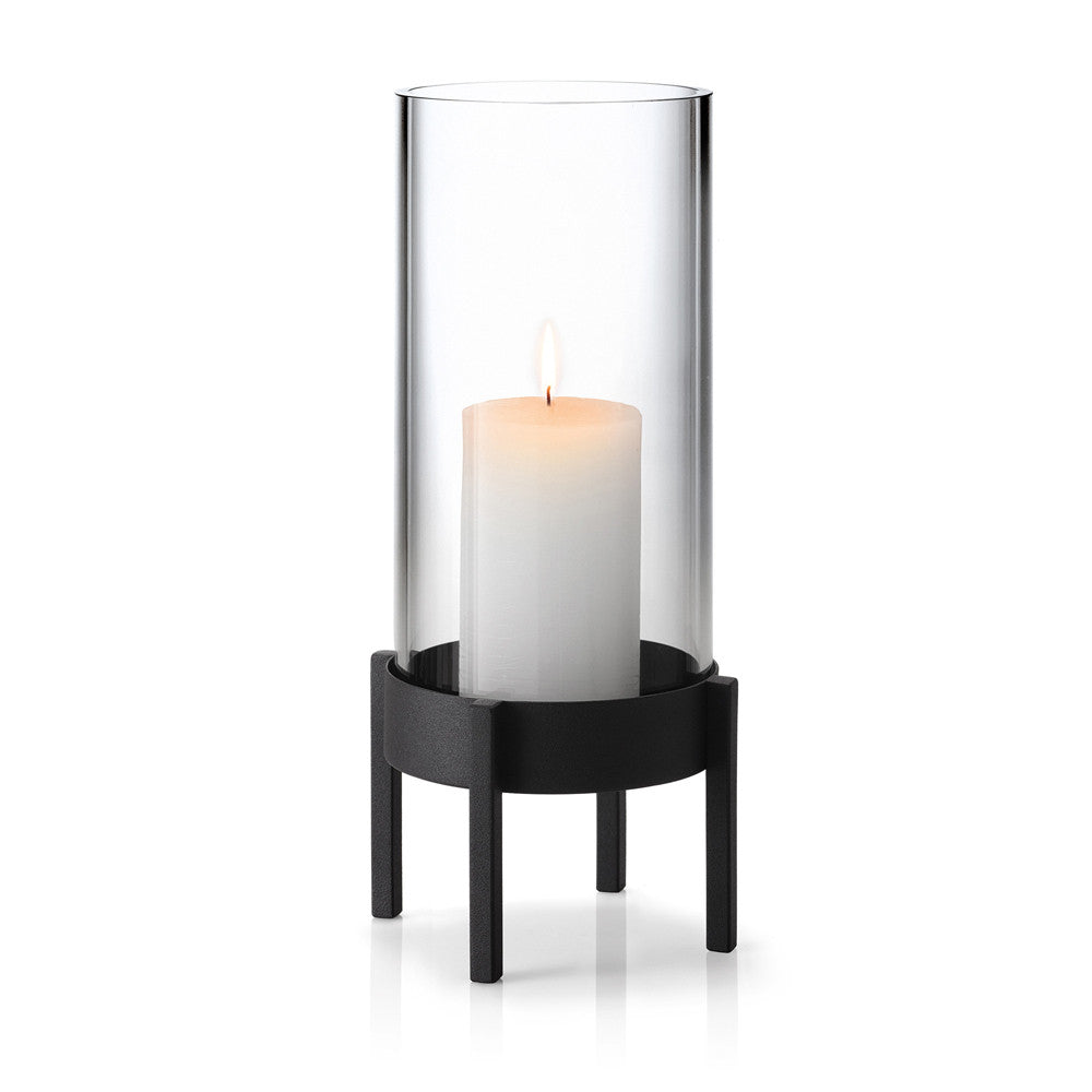 Blomus NERO Hurricane Candle Holder, Large