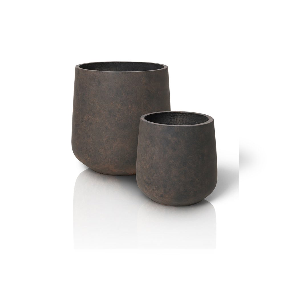 Blomus PLANTA Planters Set of 2 Clay Black/Brown