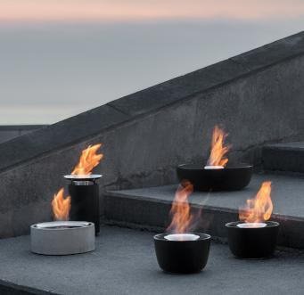Blomus LUMINO Outdoor Gelburning Concrete Firepit