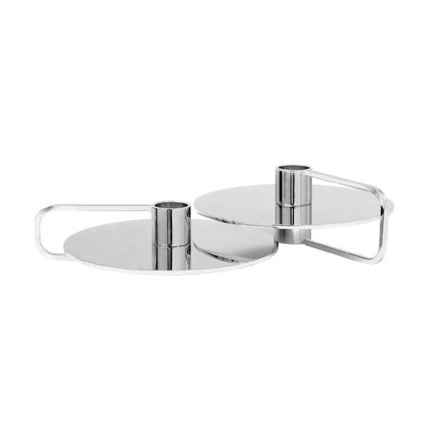 Blomus CASTEA Candle Holders Chrome Plated Steel Set of 2