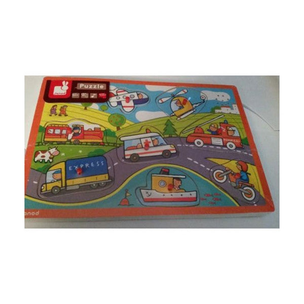 Janod Vehicle Puzzle 100 pcs