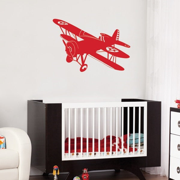 ADzif Wall Sticker Biplane