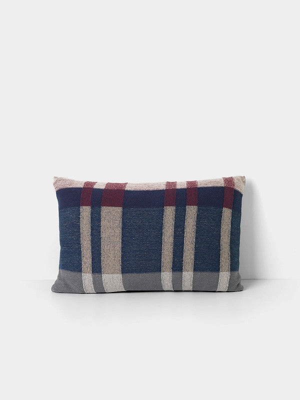 ferm LIVING Medley Knit Cushion Dark Blue Large