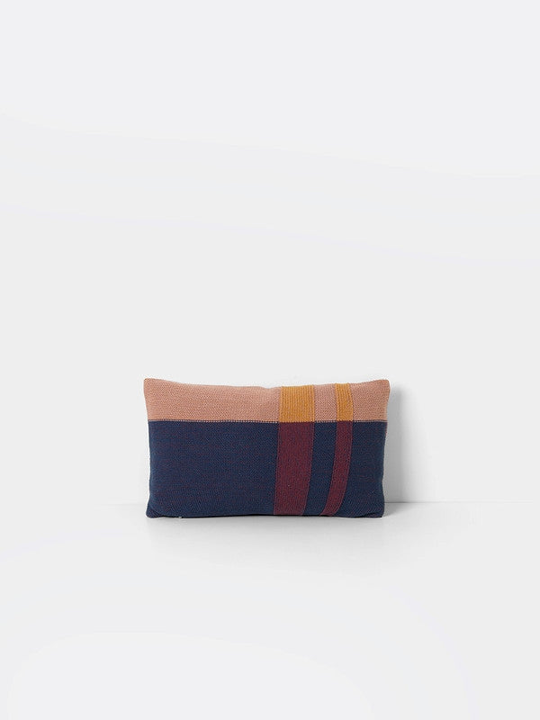 ferm LIVING Medley Knit Cushion Dusty Blue Small
