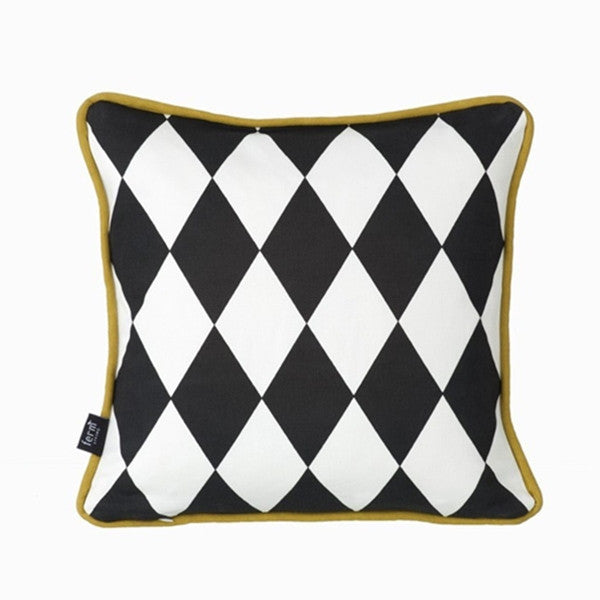 ferm LIVING Cushion Little Geometry Pillow Olive