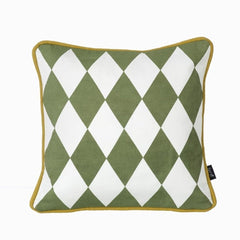 ferm LIVING Cushion -Little Geometry Pillow - Olive