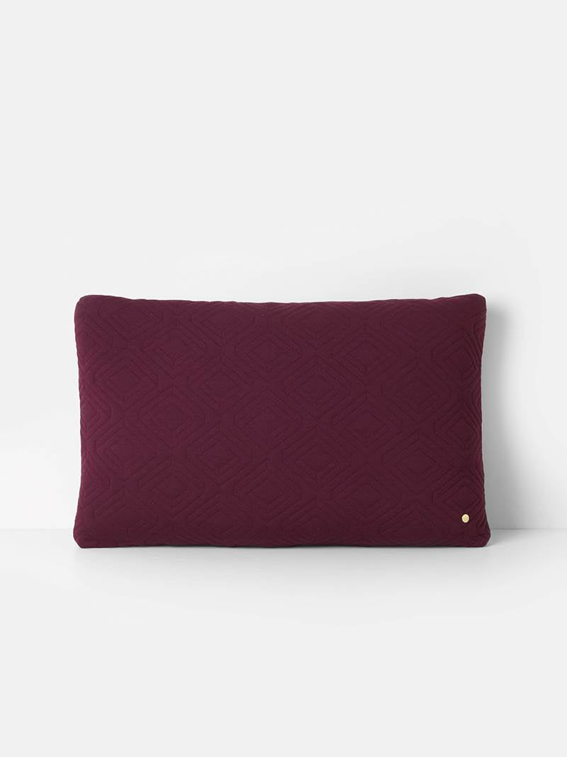 ferm LIVING Quilt Cushion XL Bordeaux 80 x 50