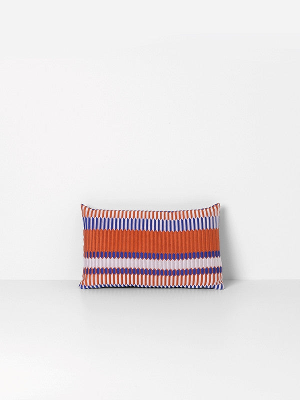 ferm LIVING Salon Cushion Pleat Rust 40 x 25