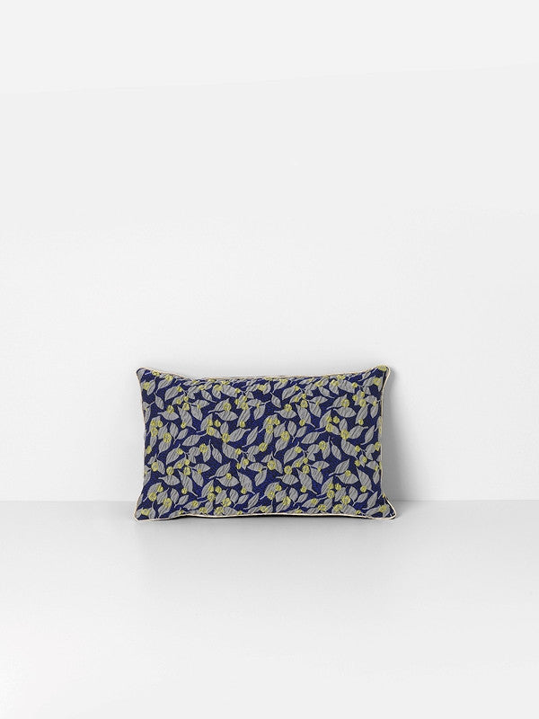 ferm LIVING Salon Cushion Flower Blue 40 x 25