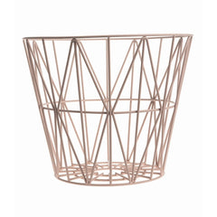 ferm LIVING -Wire Basket - Rose (S, M,L)