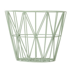 ferm LIVING -Wire Basket - Mint (S, M, L)