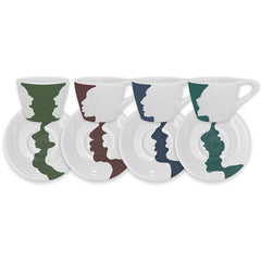 notNeutral - LINO Espresso Set of 4:Conversation Piece