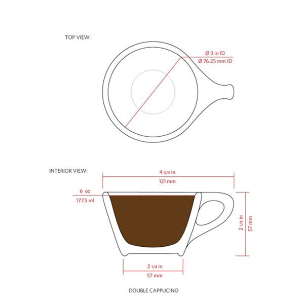 notNeutral LINO Double Cappuccino Cups Set of 2
