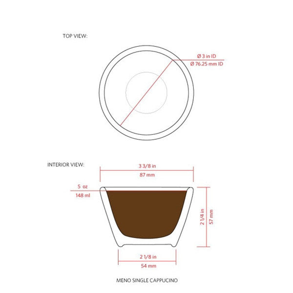 notNeutral MENO Single Cappuccino Cups Set of 6