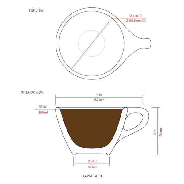 notNeutral LINO Large Latte Cups Set of 6
