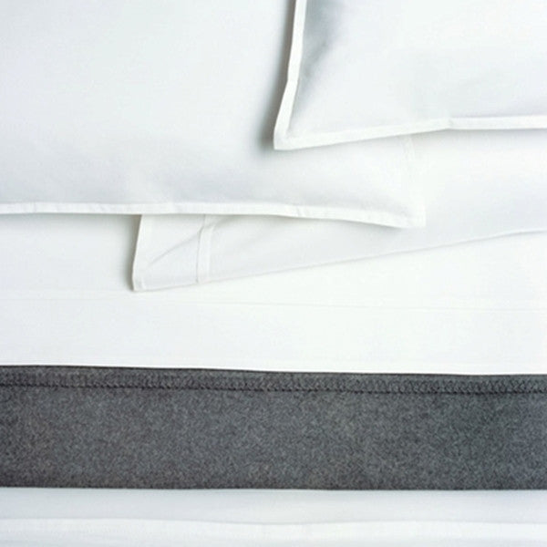 Area Bedding PLEAT White Organic Pair Pillow Cases - King