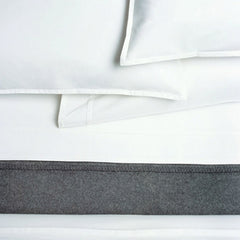 Area Bedding PLEAT White Organic Fitted Sheet - King