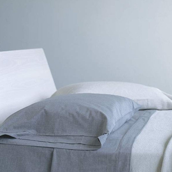 Area Bedding HEATHER Grey Flat Sheet - Full/Queen