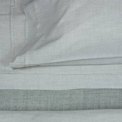 Area Bedding HEATHER Cement Fitted Sheet Queen