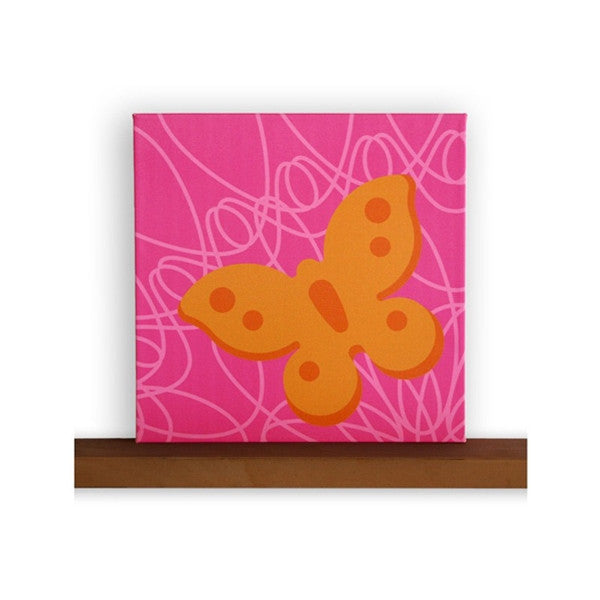 Not Neutral -Season Canvas Wall Art - Butterfly