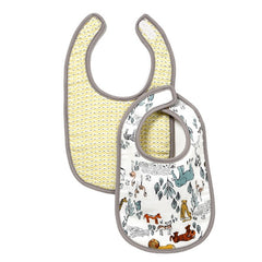 DwellStudio -Safari Muslin Bib (Set of 2)