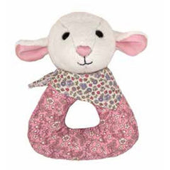 Apple Park - Patterned Lamby Rattle
