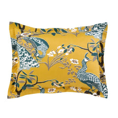 DwellStudio Shams Pair Peacock Citrine Standard
