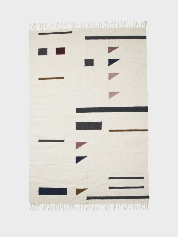 ferm LIVING Kelim Rug Triangles Large