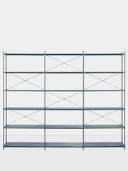 ferm LIVING Punctual Shelving System Dark Blue 3x6