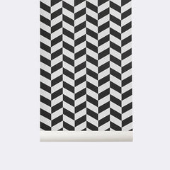 ferm LIVING - Angle Wallpaper - Black