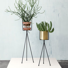 ferm LIVING Plant Stand - Light Grey - Low