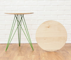 Tronk Design Hudson Side Table No Inlay Maple
