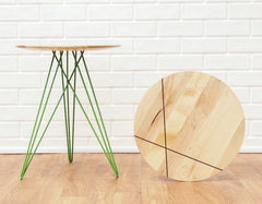 Tronk Design Hudson Side Table with Inlay Maple