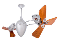 Matthews Ar Ruthiane Ceiling Fan Wood Blades Brushed Nickel Damp
