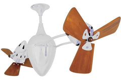 Matthews Ar Ruthiane Ceiling Fan Wood Blades Gloss White