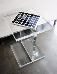 Gus* Modern Acrylic I Beam Table