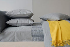 Area Bedding PARALLEL Grey Cal-king Fitted Sheet