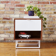 Gus* Modern Emerson End Table Walnut White
