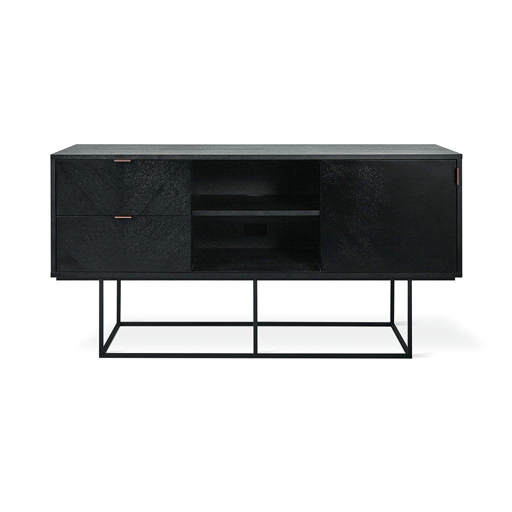 Gus* Modern Myles Media Stand Black Oak