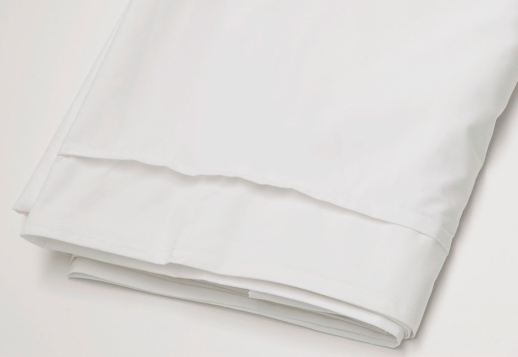 Area Bedding PLEAT White Organic Flat Sheet Twin