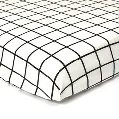Gautier Studio Polka Fitted Sheet Black Stripes