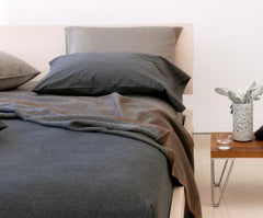 Area Bedding Heather Coal Sham Euro