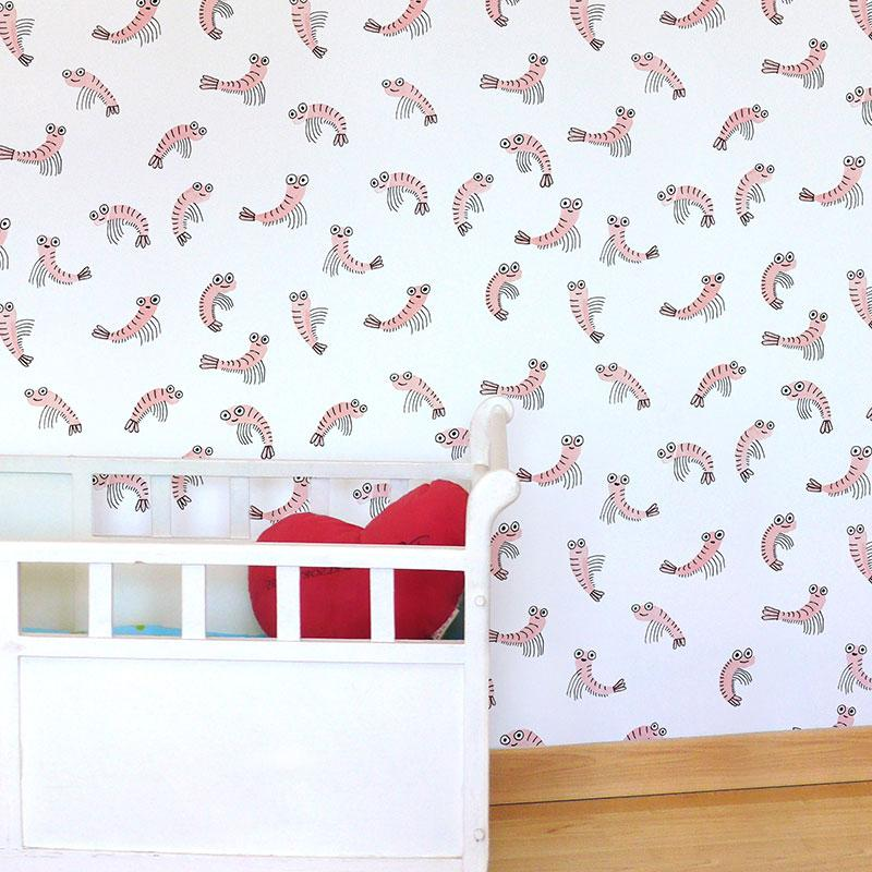 Adzif Wall Sticker Shrimp
