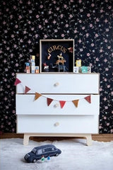 Oeuf Merlin 3 Drawer Dresser With Classic Base Birch/White