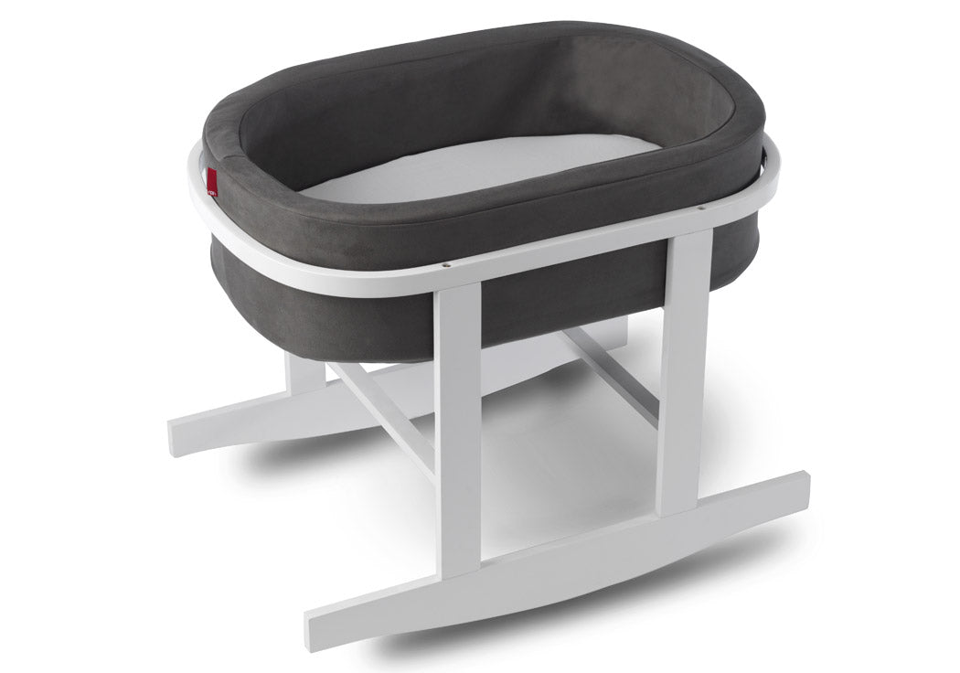 Monte Ninna Nanna Bassinet Charcoal Basket/White Base