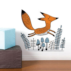 Adzif Wall Sticker Jumping Fox