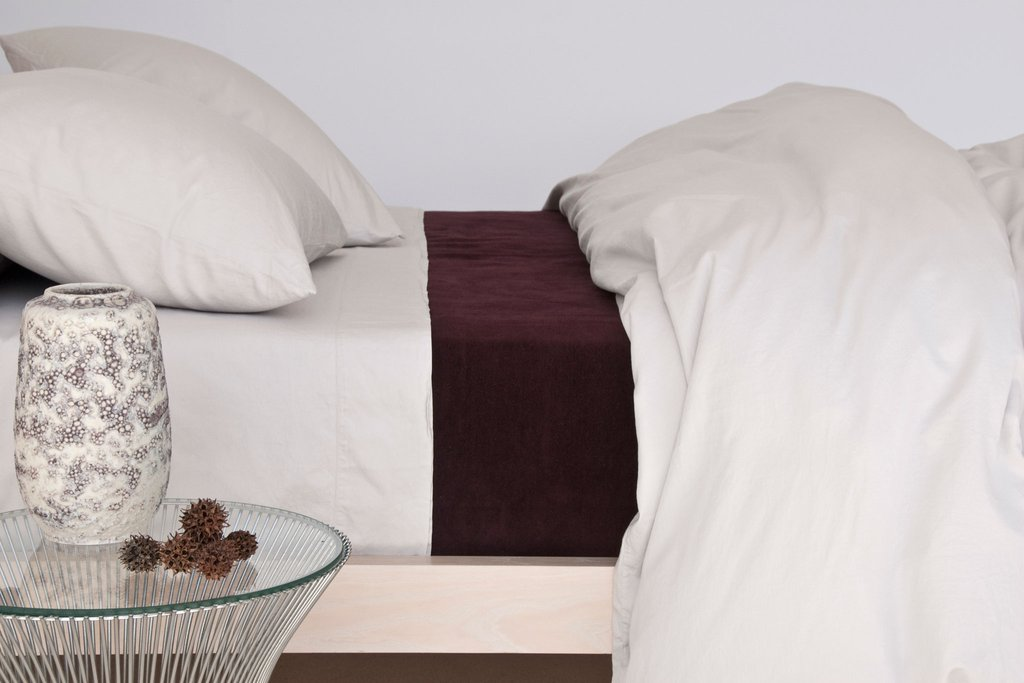 Area Bedding Perla Porcelain Full/Queen Flat Sheet