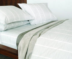 Area Bedding PINS Grey Fitted Sheet Cal king